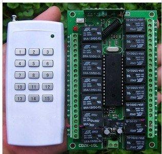 12v10A15CH канал RF Беспроводная система дистанционного управления приемник/переключатель и пульт дистанционного управления Передатчик 315/433 выход регулируется