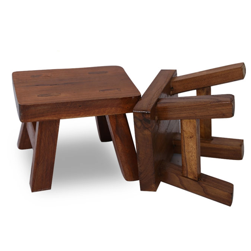 Living Room Table With Stools: Solid Wood Shoe Bench Stool Children's Adult Stool Living