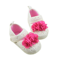 Hot High Quality Infant Toddler Girls Soft Sole Baby Crib Shoes Cute Flower Dropshipping Free Shipping ,XL30