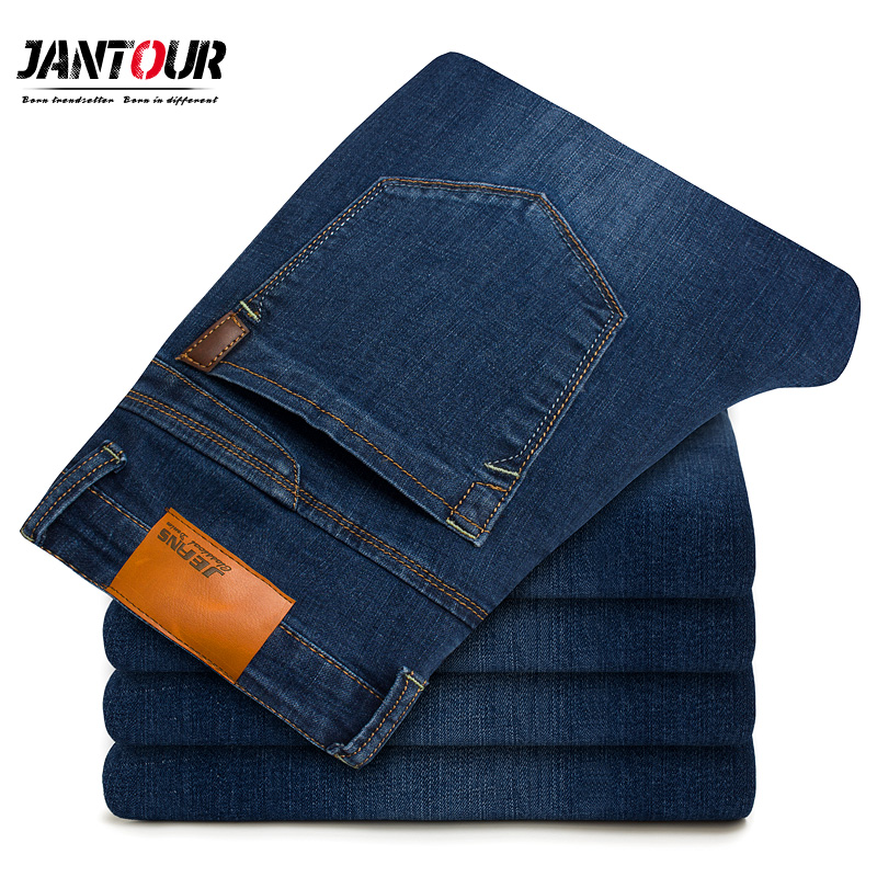 Men's   Jeans   Business Casual Stretch Slim Straight   Jean   men High Quality Famous Brand Classic Trousers Denim Pants Male new