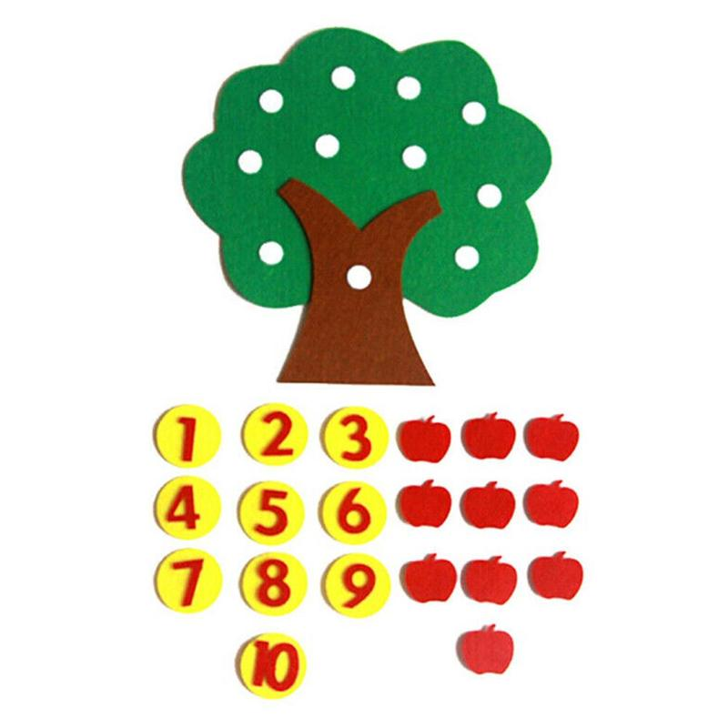 Montessori Learning Education Learn To Count Numbers Matching Digital Shape Match Early Education Teaching Math Toys