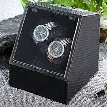 Новинка 2017 года часы коробкой автоматические часы намотки Авто silent смотреть winder Прозрачная крышка часы Дисплей Дело наручные часы коробки держатель