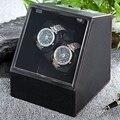 2017 Nova Caixa de Relógio Enrolador Automático de Relógio Auto Silencioso Relógio Enrolador Titular Caixas de Tampa Transparente Mostrador do Relógio Caso Relógio de Pulso