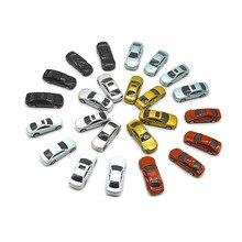 10/30/50/100 шт. 1/100 масштабная модель автомобиля архитектурные игрушки окрашенный модель Машинки Игрушки для Миниатюрная модель здание макет Наборы
