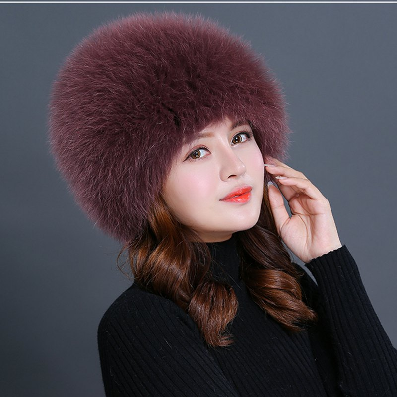 women winter fur hat genuine fox fur hats knitted silver fox fur caps female russian bomer caps autumn winter beanie fur hat knitted wool cap with silver fox fur pompom skullies caps ladies knit winter hats for women beanies