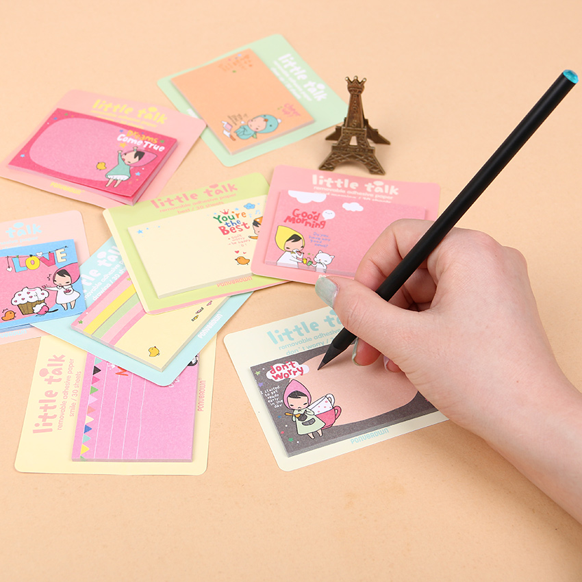 Red Hood Girl Cute Stickers Planner Kawaii Sticky Notes Stationery Notepad Stickers Memo Pad Office Supplies