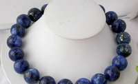 hot sell new HOT2573 17 big blue nature round lapis lazuli bead necklace