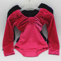 Autumn And Winter Long Sleeve Leotard Costume Girls Kid Ballet Dance Gymnastics Skating Dancewear