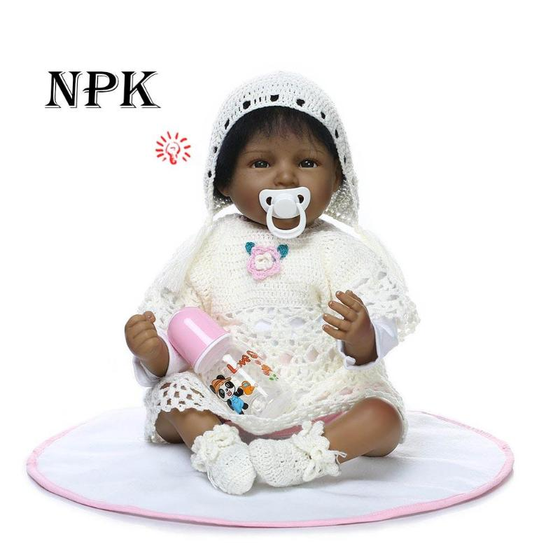 55 cm Lifelike Baby reborn Soft Silicone baby reborn Realistic Reborn Dolls For Girls Kids Christmas gift COLLECTION