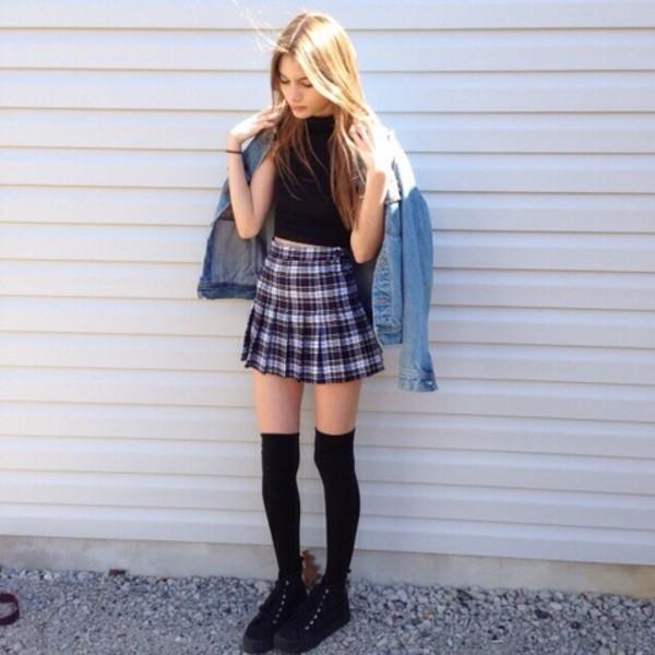 HTB1D5tXGVXXXXXEaXXXq6xXFXXXy - Checkered Skirt Woman PTC 63