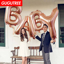 Decorate 40inch rose gold baby love foil balloons wedding event christmas halloween festival birthday party HY-187