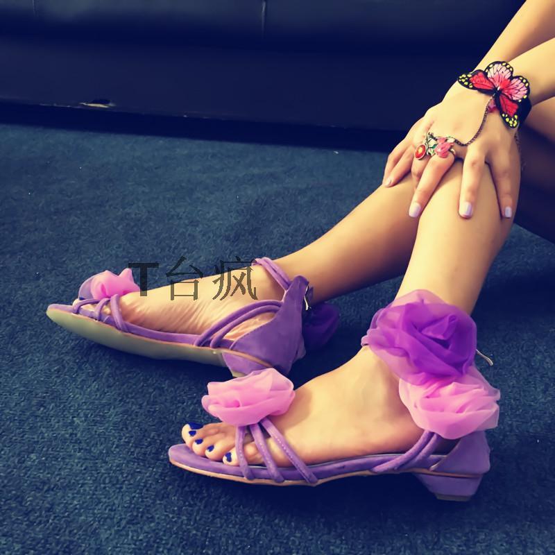 Wedding Party Summer Dress Shoes Women Low Heel Sandal 2017 Sweet Flower Decoration Ankle Strap Sandals Wholesale Drop Shipping женское платье summer dress 2015cute o women dress