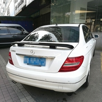 For Benz W204 Spoiler ABS Material Car Rear Wing Primer Rear Spoiler For Benz W204 C180 C200 C260 Spoiler 2010 2014