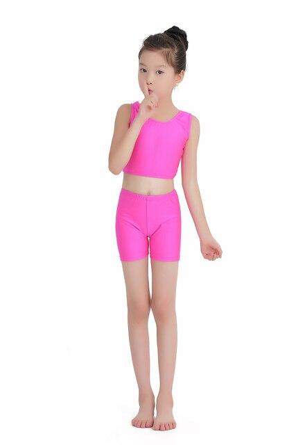 Cô gái Áo Ngực Crop Top Skinny Nhảy Múa Ba Lê Tops Woman'sBallet Cắt Thể Dục Dụng Cụ Bodysuit Mới