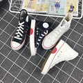 Free Shipping Women Fashion Canvas Shoes Lacing Casual Shoes Men High-top Out-door Platform Shoes Size 35-43