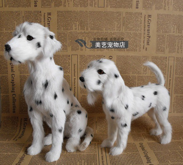 simulation Dalmatian dog model,polyethylene&fur spotted dog handicraft toy home decoration Xmas gift b3830
