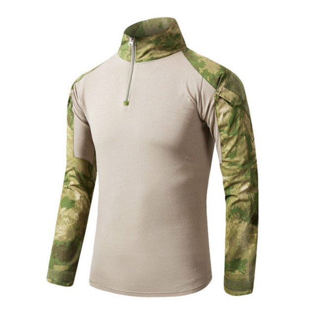 2fc8fd1d6 Tactical T-Shirts Military Tee Shirts Men SWAT Jungle Camouflage Long  Sleeve Army Style Cotton T Shirt ACU Python Combat Tshirt