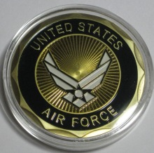 DHL free shipping 50pcs/lot United States F-35 Lightning II Air Force Challenge Coin coins