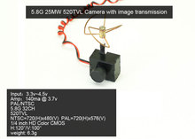 Free Shipping 5.8G 25mw Super Mini Light Image Transmission with 520TVL Camera Racing Drone Image Transmission Combo