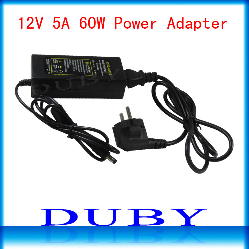 12V5A New AC 100V-240V Converter power Adapter DC 12V 5A Power Supply EU/US/UK Plug DC Free shipping new ac 100 240v to dc 12v 1 5a switching power supply converter adapter eu plug s08 drop ship