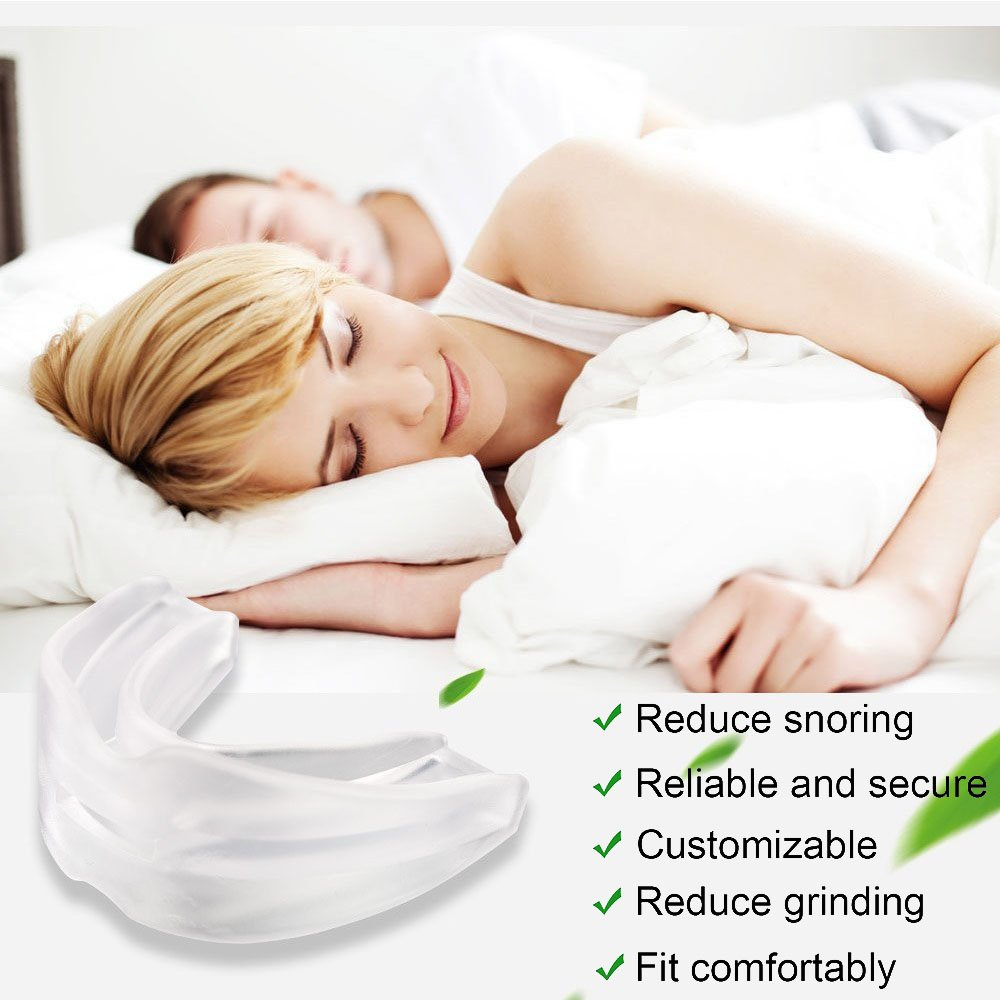 Gum Shield for Stop Grinding Teeth & Snoring 2-in-1 Anti Snoring Devices Snore Stopper for Better Sleep 3