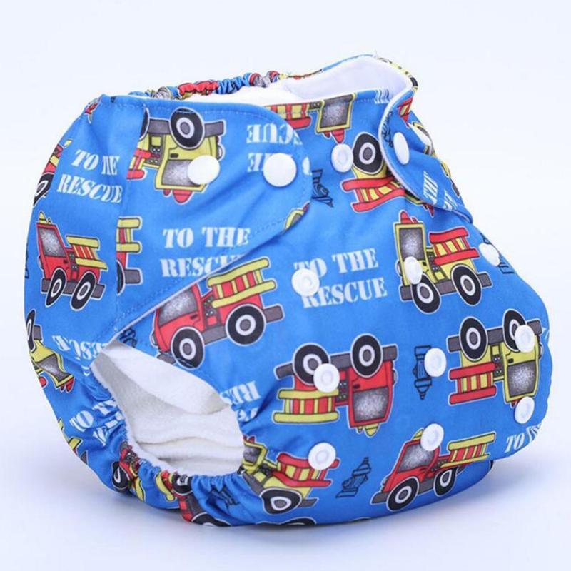 Baby Washable Cloth Diaper Cover Couches Lavables Waterproof Cartoon Real Cloth Pocket Nappy Diaper Cover Wrap for baby care D3