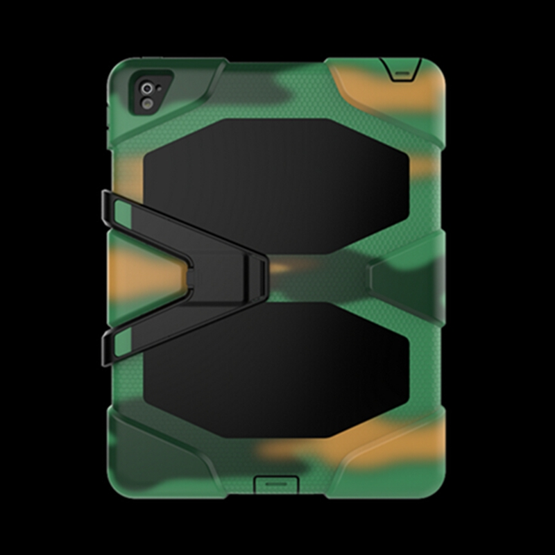 3 in 1 Hybrid Plastic+Silicon Heavy Duty Shockproof Dual Layer Rugged Military Armor Back Cover Case for Ipad pro 9.7Coque