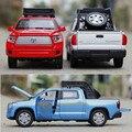 1:32 escala tundra aleación modelo de coche acústico-óptico de tres colores de metal cars tire hacia atrás toys classic simulación auto brinquedo