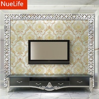 10pcs Acrylic mirror 3D wall stickers living room bedroom TV background wall ceiling lace skirting line waist wall stickers