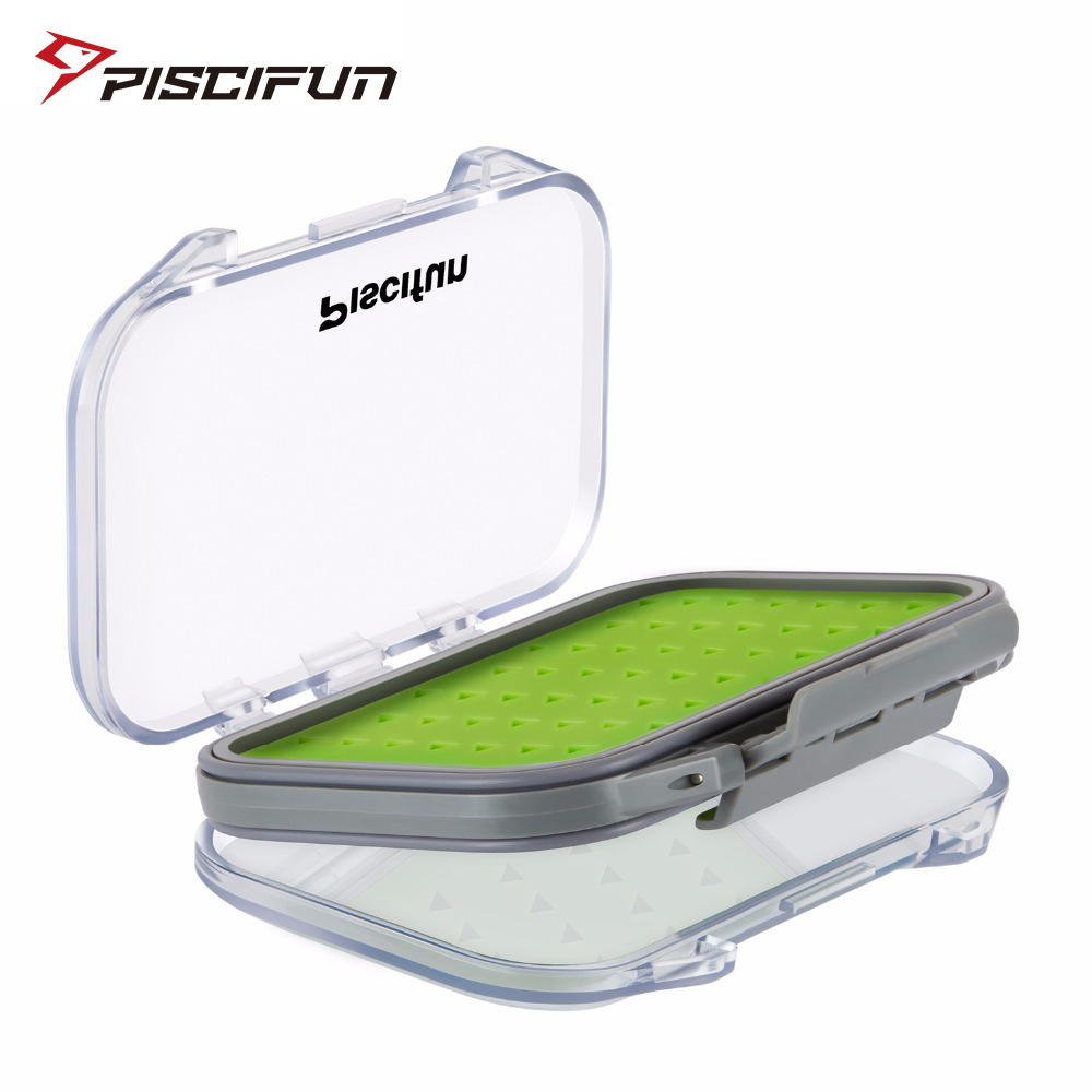 Piscifun Waterproof Silt Foam High Quality Plastic Portable Fly Box Fly Fishing Bait Tackle Box