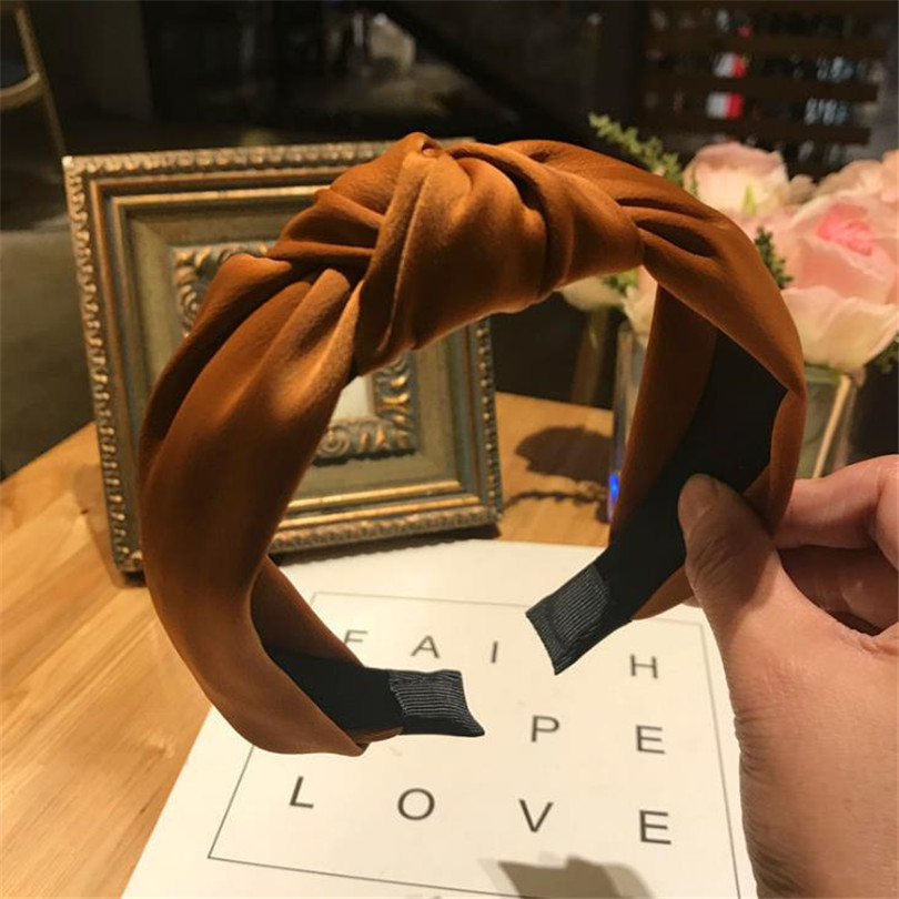 Haimeikang Solid Colors Hair Knotted Hair Band for Women Headbands Hairbands Headwear 2018 New Arrival in Women 39 s Hair Accessories from Apparel Accessories