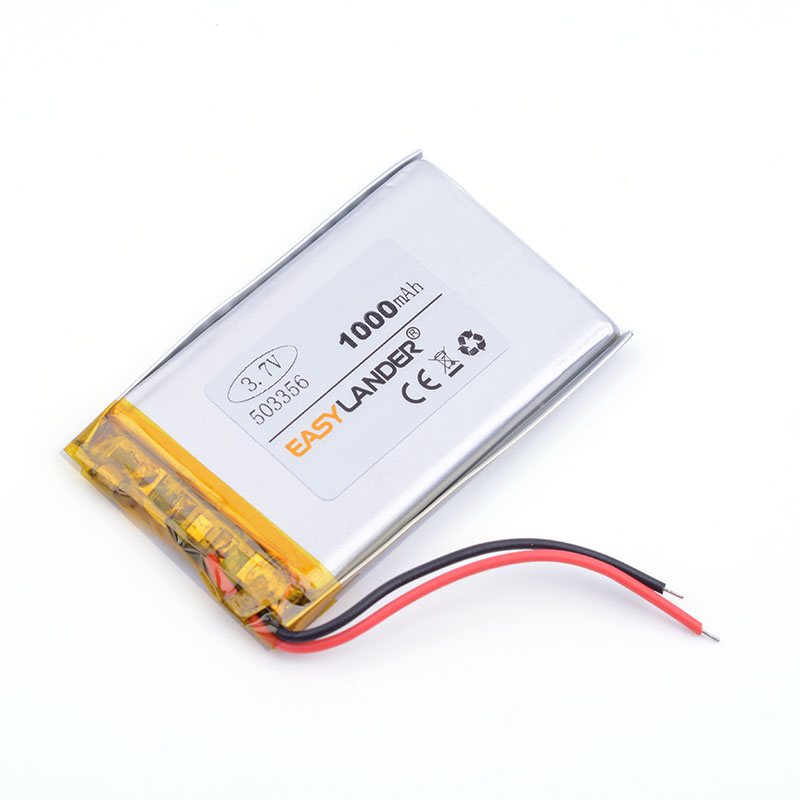 Polymer battery 1000mah 3.7 V 503356 smart home MP3 speakers Li-ion battery for dvr GPS,mp3 mp4 cell phone speaker 053356