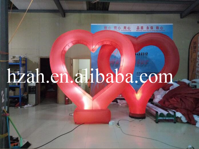 Lights Inflatable Red Heart for Party and Wedding Decor monkey foil balloon auto seal reuse party wedding decor inflatable gift for children