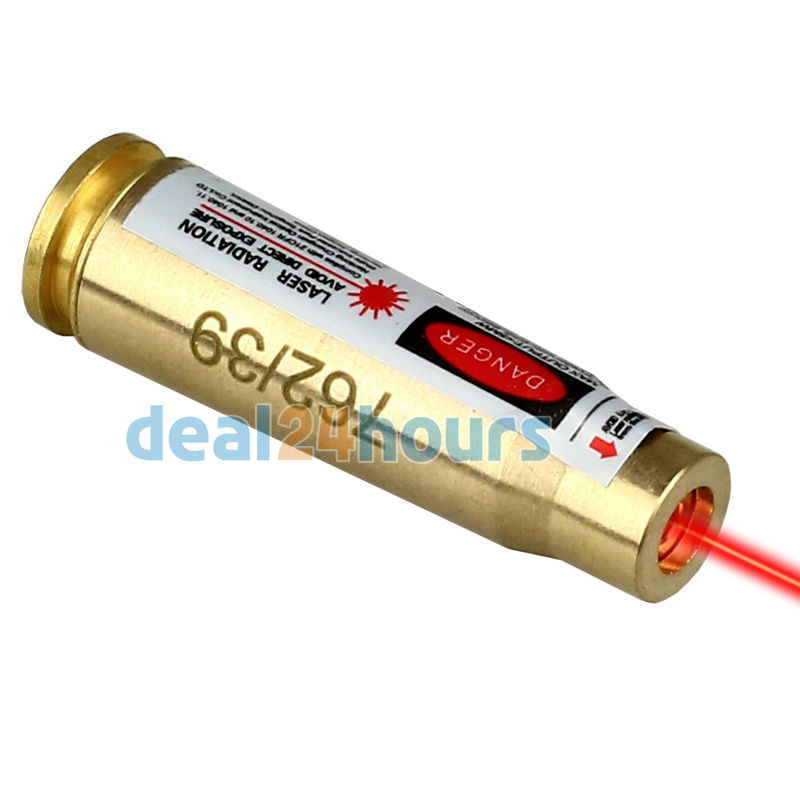 CAL 7.62 x 39 Red Laser Sight Cartridge Bore Boresighter Sighter Messing Sighting Caliber for Jakt Gratis frakt