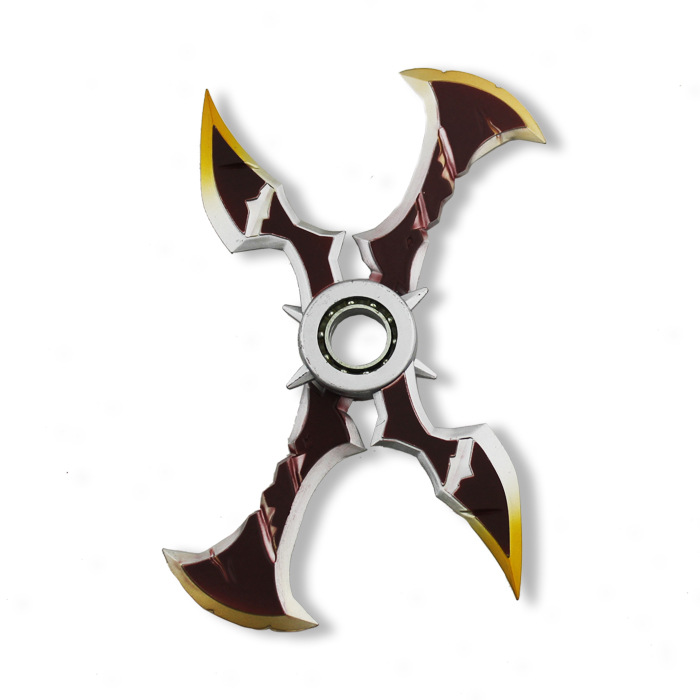 Costume Props Novelty & Special Use Creative Game Lol Draven Rotatable Shuriken For Children Ow Zinc Alloy Model Weapons Darts Gifts Toys For Kids