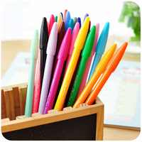 Multi colore Belle Liner penne set 12/24/36 colori Soft touch di scrittura tavolo da disegno Della penna Della Cancelleria Zakka regalo ufficio scuola di Arte A6261