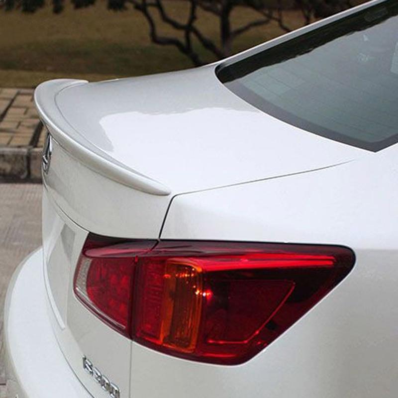 Fit For Lexus IS250 IS300 IS350 2007 2008 2009 2010 2011 2012 2013 ABS Plastic Unpainted Primer Color Exterior Rear Wing Spoiler педали для авто new lexus 2003 rx300 2009 is250 2001 2005 is300