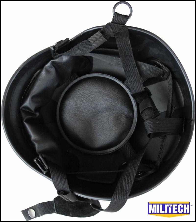 MILITECH NIJ IIIA 3A Black M88 Steel Bullet Prova, Helmeta Steel - Siguria dhe mbrojtja - Foto 2