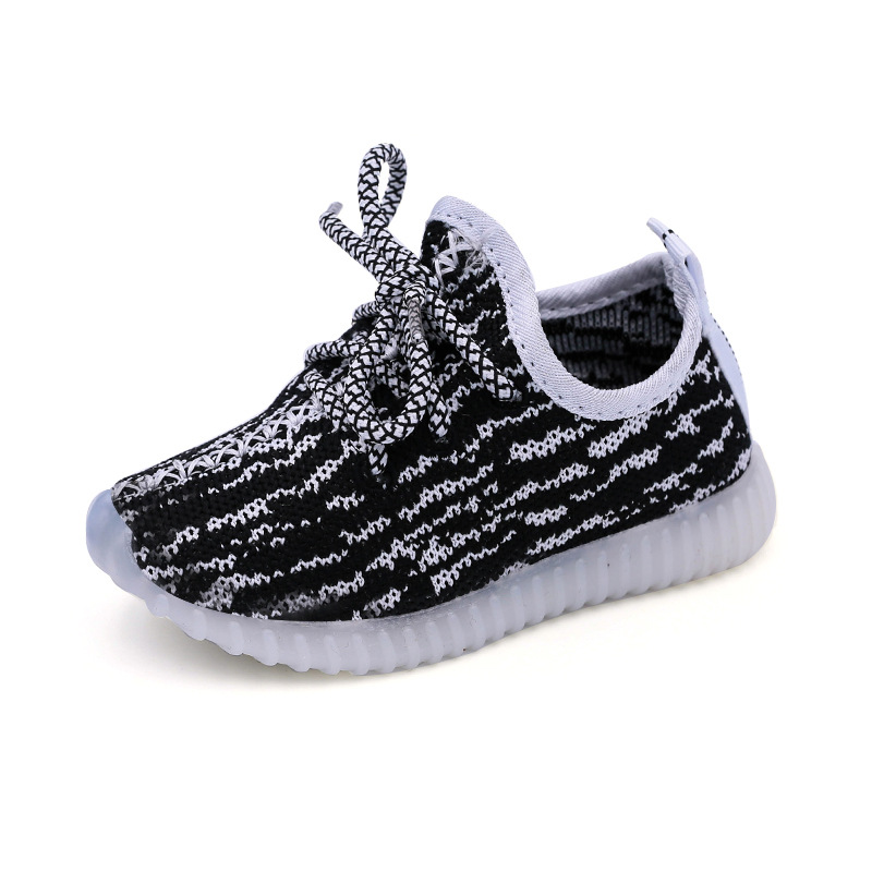 737f25f1aef81 Eur21 30 Children Shoes With Light Led Enfant Sneaker Girls Tenis Sports  Breathable BoysTrainerYezi Light Baby Shoes Kids-in Sneakers from Mother    Kids on ...