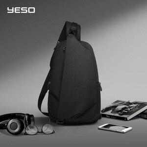 """Image 1 - YESO Chéo Thời Trang Túi Với USB Sling Ngực Túi Chống Thấm Nước Nhẹ Túi Đeo Vai Cổ Daypacks Phù Hợp Với 9.7 """"IPad"""