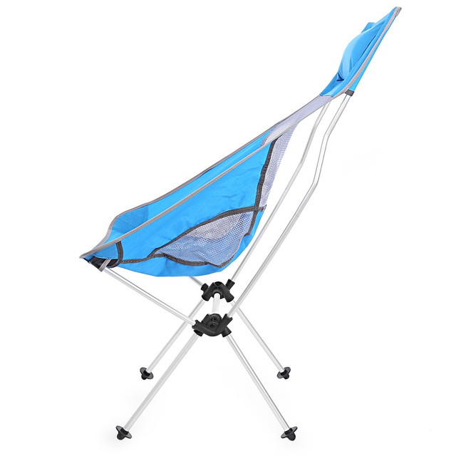 Portable Fishing Chair Ultralight Folding Aluminum Alloy Moon Rocking Chair  For Outdoor Camping Leisure Picnic Beach