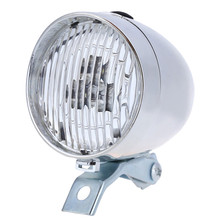 Faro LED clásico Vintage para bicicleta, faro delantero Retro para bicicleta, faro antiniebla delantero, ingeniero ABS, plástico, negro plateado, alta calidad # BL5