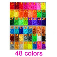 1000 PCS/ Bag 5mm Hama Beads 48 Colors For Choose Kids Education Diy Toys 100% Quality Guarantee New Perler Beads Wholesale