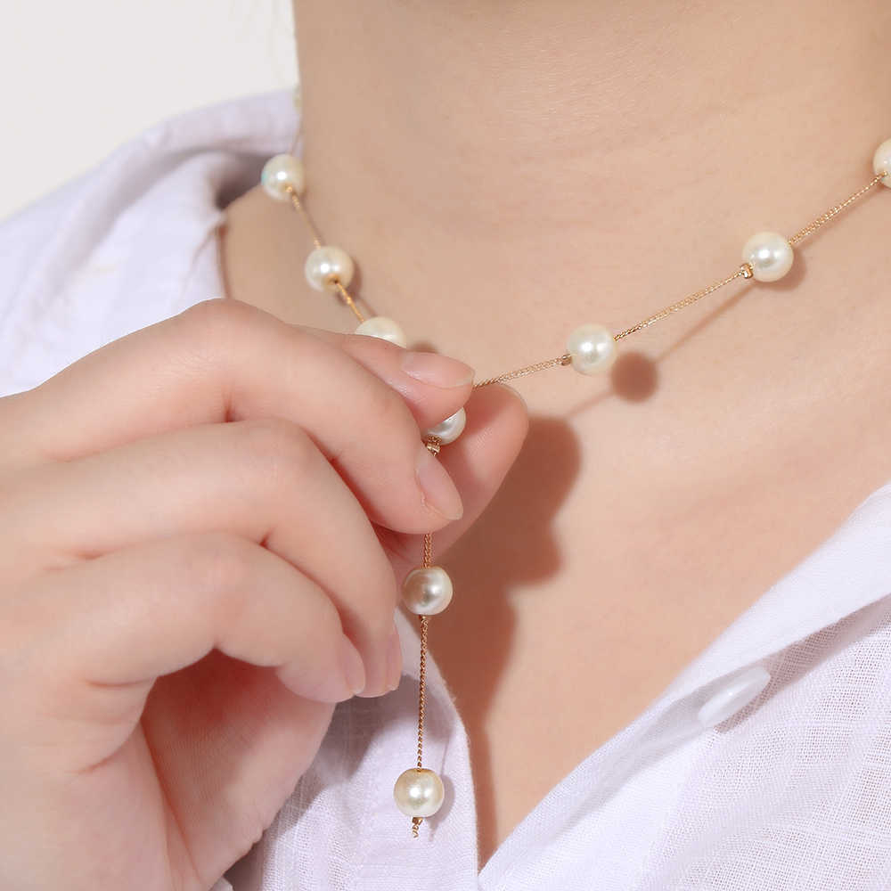 1 Set New Fashion Pearl Chain Necklace Bracelet Earrings Golden Sliver Jewelry Sets Women Romantic Personality Jewelry Nice Gift