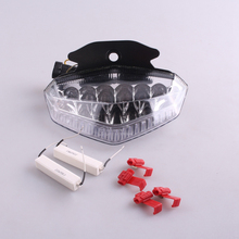 E-Mark Motorcycle LED Rear Tail Brake Light Turn Signal Lamp Integrated For DUCATI HYPERMOTARD 2009 2010 2011 2012 Clear