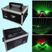 Luz láser de escenario de DJ Profesional 3 W proyecto láser verde DMX viga de animación láser muestra Systerm con 25 K galvo escáner
