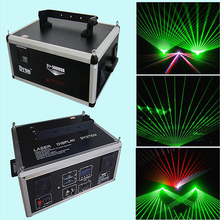Professional DJ Stage Laser Light 3W Green Project  DMX Animation Beam Show Display Systerm with 25K Galvo Scanner