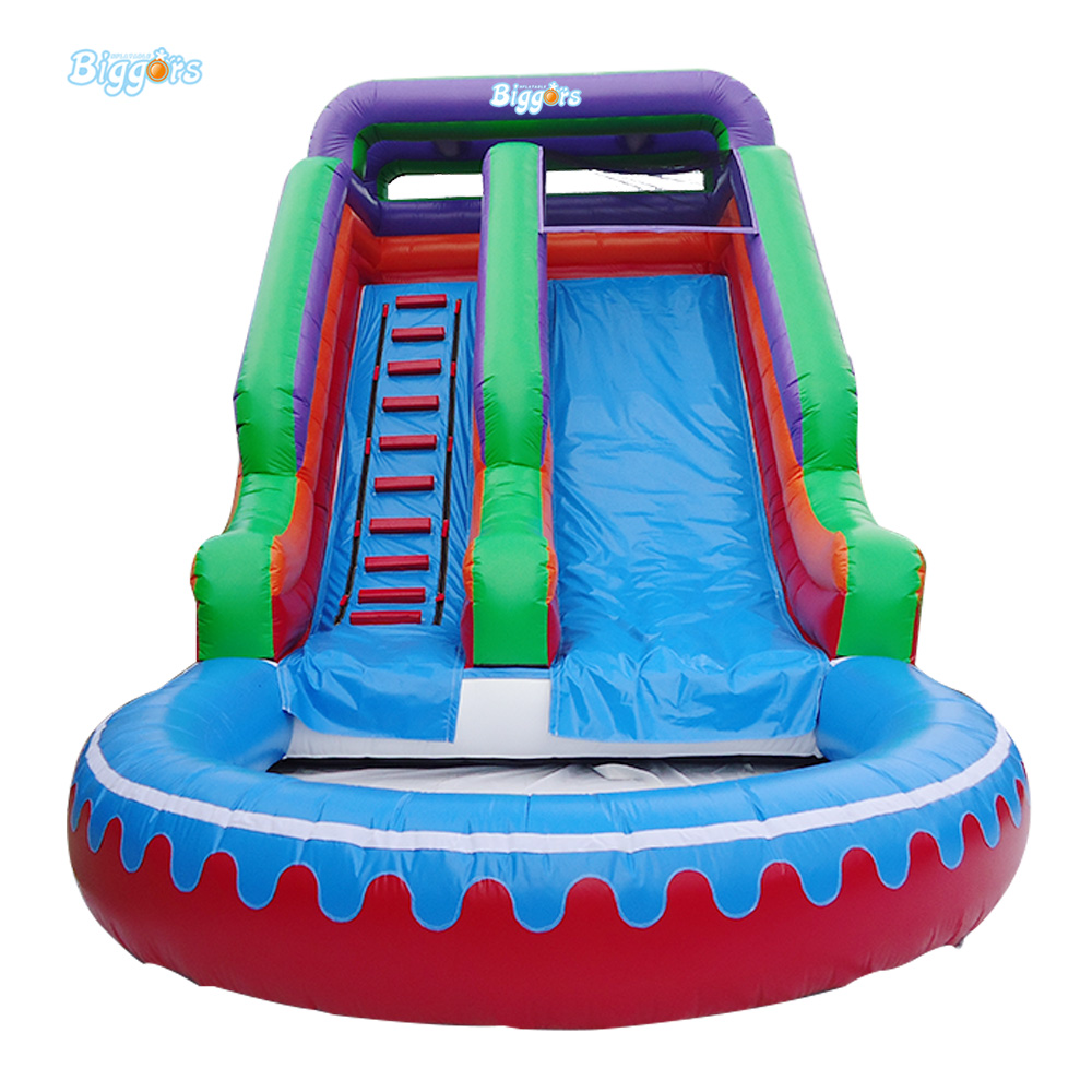 FREE SHIPPING BY SEA Outdoor PVC Commercial Inflatable Water Slide With Pool For Sale free sea shipping commercial large inflatable wave water slide with pool for kids and adults