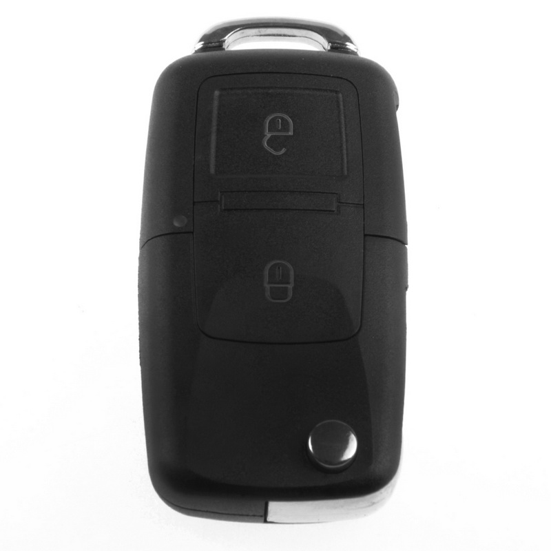 Hot selling 2 Buttons Remote Flip Folding Car Key Shell Replacement for Case Cover V