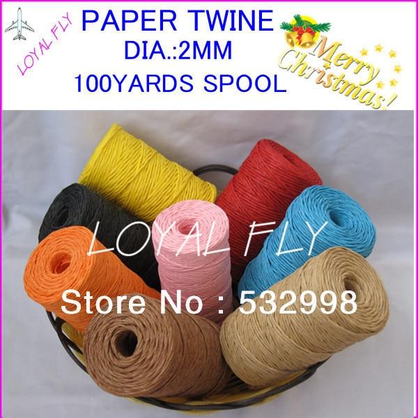 10 Farbe 20pcs / lot Bast-Band- / Papierschnur- / Papierschnur - - Partyartikel und Dekoration - Foto 1
